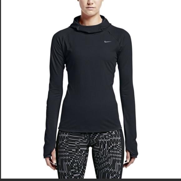f26f5b31fab2a Nike | Black Hooded Running Long Sleeve DriFit M. M_5bdcdc8dd6dc52251bd147c6